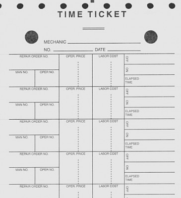 Mechanics Time Ticket